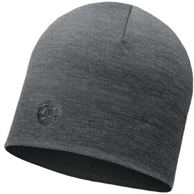 Buff Heavyweight Merino Wool Gorra Normal, solid grey